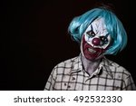 Portrait Of A Scary Evil Clown...