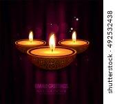 abstarct happy diwali background | Shutterstock .eps vector #492532438