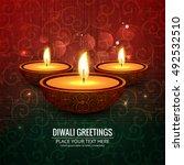 abstarct happy diwali background | Shutterstock .eps vector #492532510