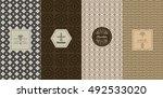vector set of design elements... | Shutterstock .eps vector #492533020