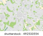 vector city map of coventry ... | Shutterstock .eps vector #492533554