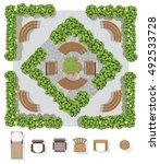 landscape design composition... | Shutterstock .eps vector #492533728