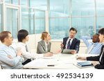 business meeting | Shutterstock . vector #492534139