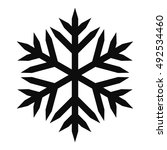 snowflake vector icon for... | Shutterstock .eps vector #492534460