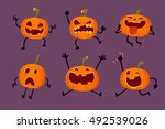 illustration set of halloween... | Shutterstock .eps vector #492539026