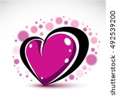 love and romance symbolic... | Shutterstock .eps vector #492539200