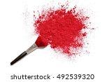 professional make up brush on... | Shutterstock . vector #492539320