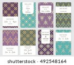 vector set of card templates.... | Shutterstock .eps vector #492548164
