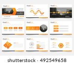 orange triangle presentation... | Shutterstock .eps vector #492549658