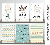 card template collection for... | Shutterstock .eps vector #492556504