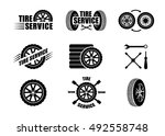 tire service icons and... | Shutterstock .eps vector #492558748