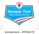 blue badge | Shutterstock .eps vector #49256173