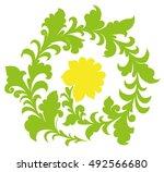 khokhloma painting   Shutterstock .eps vector #492566680