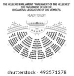 the hellenic parliament or... | Shutterstock .eps vector #492571378