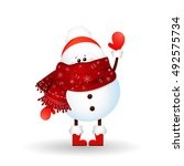 christmas  cute   funny  baby... | Shutterstock .eps vector #492575734