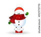 christmas cute  funny  baby ...   Shutterstock .eps vector #492575770