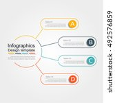 infographic design template... | Shutterstock .eps vector #492576859