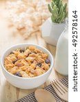 corn flakes nutrition cereal...   Shutterstock . vector #492578164