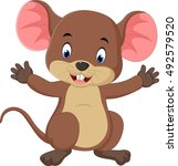 cute mouse cartoon | Shutterstock .eps vector #492579520