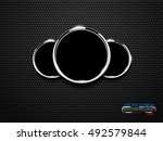 vector chrome ring speedometer... | Shutterstock .eps vector #492579844