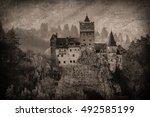 europe  transylvania  romania ... | Shutterstock . vector #492585199