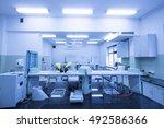 modern laboratory .interior of... | Shutterstock . vector #492586366