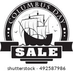 columbus day sale decorative...   Shutterstock .eps vector #492587986