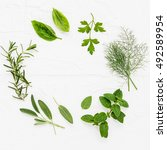 Various Fresh Herbs From The...