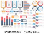 infographic elements   objects... | Shutterstock .eps vector #492591313