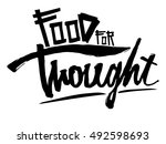 vector illustration calligraphy ... | Shutterstock .eps vector #492598693