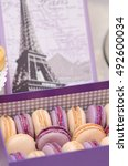 macaroons in a box | Shutterstock . vector #492600034