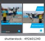 blue annual report brochure... | Shutterstock .eps vector #492601240