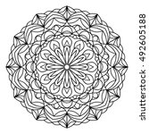 mandala background. round... | Shutterstock .eps vector #492605188