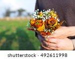Autumn Wedding Bouquet In Hand...