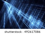 abstract fractal background a... | Shutterstock . vector #492617086