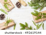decoration of the tree branches ... | Shutterstock . vector #492619144