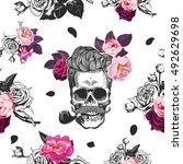 spring mood. seamless pattern... | Shutterstock .eps vector #492629698