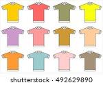 blank t shirt template vector   Shutterstock .eps vector #492629890
