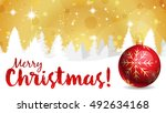 merry christmas background with ...   Shutterstock . vector #492634168