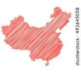 vector map of the people's... | Shutterstock .eps vector #492645058