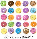 donuts | Shutterstock . vector #492646510