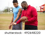 football training day. american ... | Shutterstock . vector #492648220