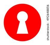 keyhole sign illustration.... | Shutterstock .eps vector #492648856