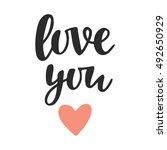 Love You  Hand Written...