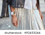 milan   september 22  woman... | Shutterstock . vector #492653266