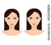 rash on the face illustration.... | Shutterstock .eps vector #492658804