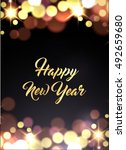 new year greeting card with...   Shutterstock .eps vector #492659680