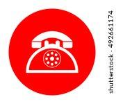 retro telephone sign. white...