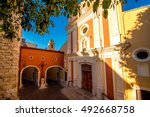 Cathedral of the Immaculate Conception in the Antibes village on the french riviera in France