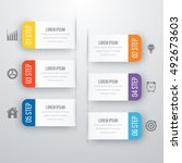 infographic design template... | Shutterstock .eps vector #492673603